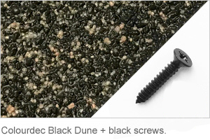 Colourdec Black Dune - free black screws.