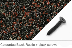 Colourdec Black Rustic - free black screws.