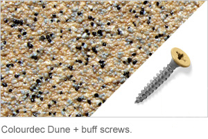 Colourdec Dune - free buff screws.