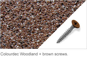 Colourdec Woodland - free brown screws.