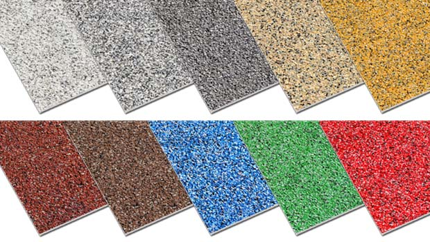 Anti slip floor sheet Colourdec multi-colour range.