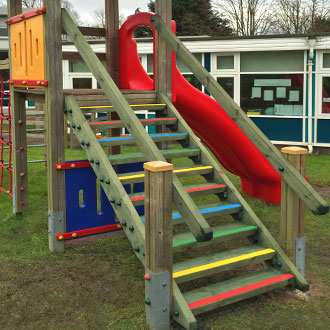 Fun with colour: more examples of School playgrounds with Anti Slip Decking Strips.