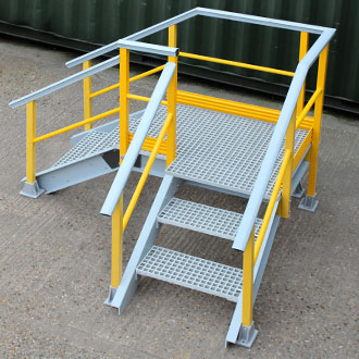 Step over industrial machinery, gutters and walls without compromising health and safety.