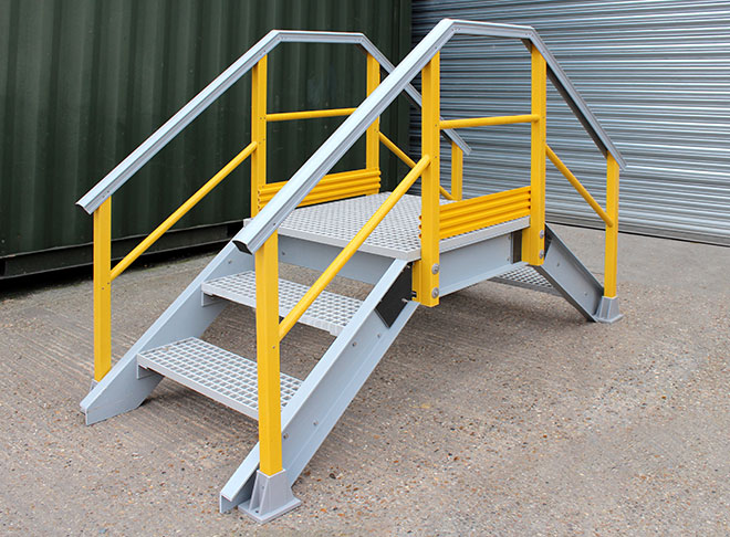 GRP grating access platform systems are suitable for industrial and commercial environments.