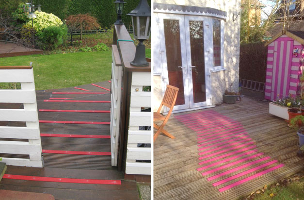 Get creative in your garden with a range of decking strip colours.