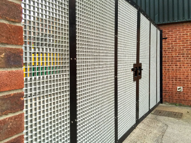 GRP Grating replaces metal steel grating for this secure gate installation.
