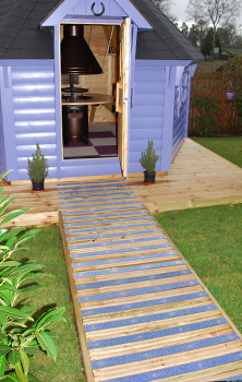 Non-slip decking strips colourdec summerhouse.